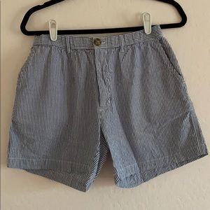Seersucker Shortie Shorts
